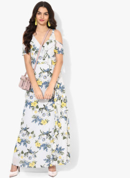 Dorothy Perkins White Printed Maxi Dress